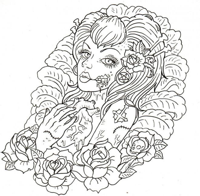 Coloriage Tatouage Pour Les Grands Dessin Gratuit A Imprimer