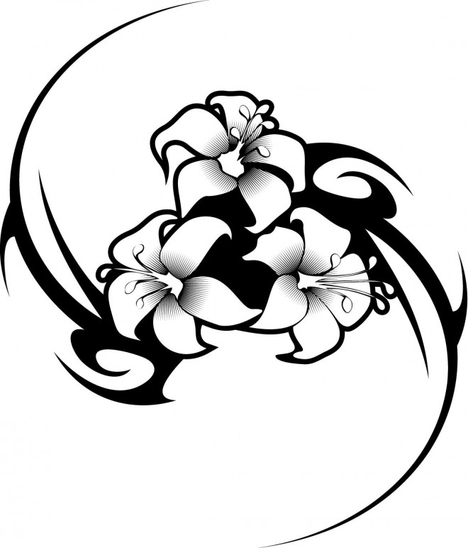 Coloriage et dessins gratuits Tatouage pour relaxer à imprimer