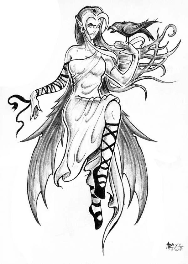 Coloriage et dessins gratuits Tatouage Princesse à imprimer