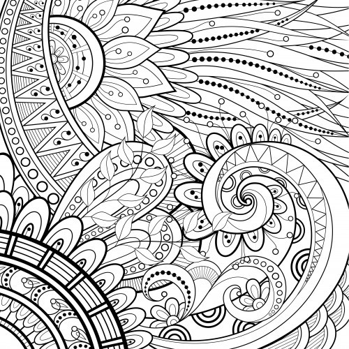 Coloriage et dessins gratuits Tatouage relaxant à imprimer