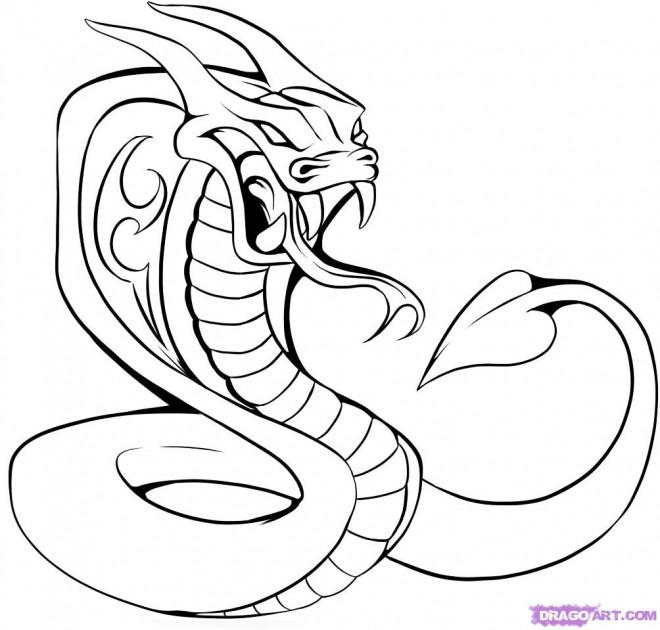 Tattoo Ideas Easy To Draw: Coloriage Tatouage Serpent Dessin Gratuit à Imprimer