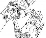 Coloriage et dessins gratuit Tatouage sur Mains à imprimer