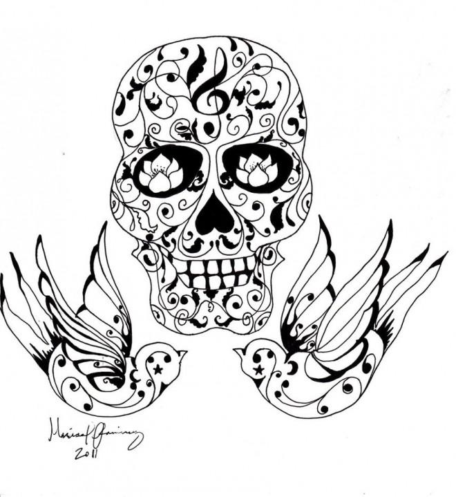 Coloriage et dessins gratuits Un Beau Tatouage pour adulte à imprimer