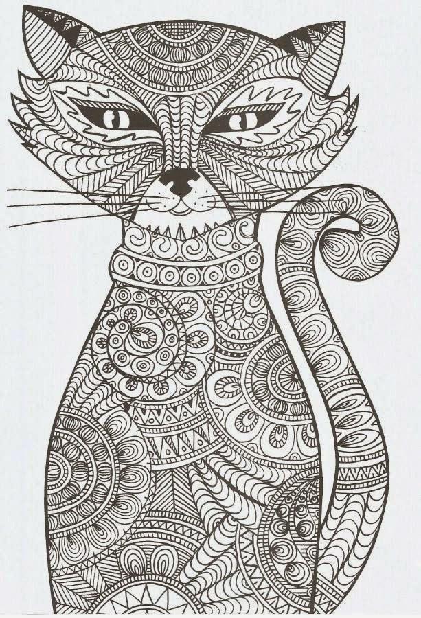 Coloriage et dessins gratuits Adulte Chat Art à imprimer