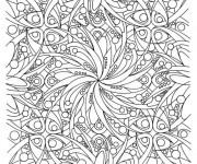 Coloriage et dessins gratuit Adulte Difficile 4 à imprimer