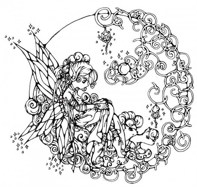 Coloriage Adulte mandala Fille Difficile dessin gratuit à ...