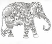 Coloriage et dessins gratuit Anti-Stress éléphant à imprimer