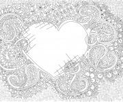 Coloriage Art Thérapeutique Coeur
