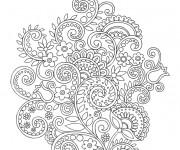 Coloriage Fleurs créativement dessiné