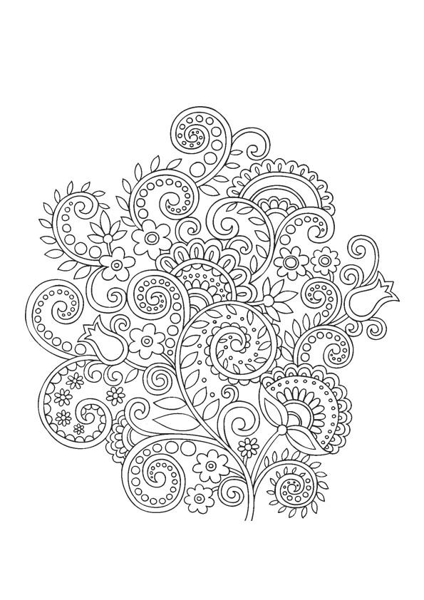 Coloriage et dessins gratuits Fleurs créativement dessiné à imprimer