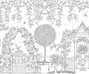 Coloriage et dessins gratuit Jardin Adulte européenne à imprimer