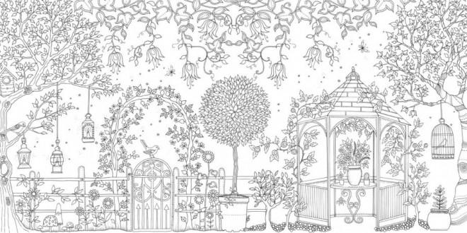 Coloriage et dessins gratuits Jardin Adulte européenne à imprimer