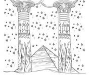 Coloriage Tableau Thérapeutique Les Pyramides