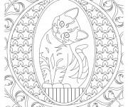 Coloriage Thérapeutique Chat mignon