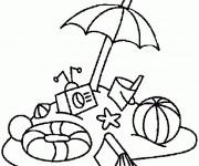 Coloriage et dessins gratuit Ballon de Plage maternelle à imprimer