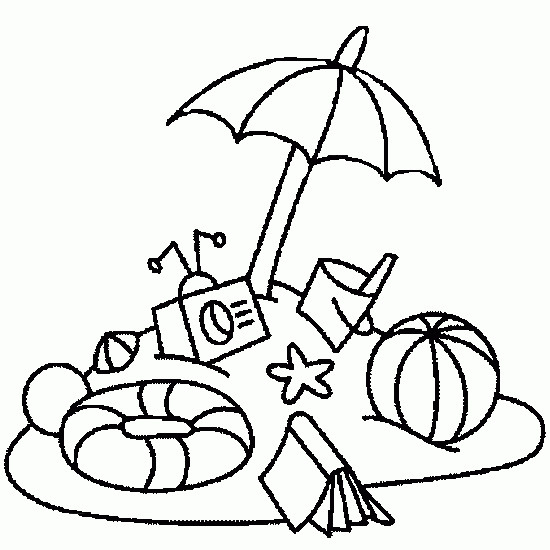 Coloriage et dessins gratuits Ballon de Plage maternelle à imprimer