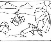 Coloriage et dessins gratuit Ballon sur la Plage à imprimer