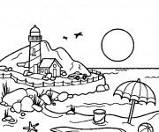 Coloriage et dessins gratuit Bord de Mer à imprimer