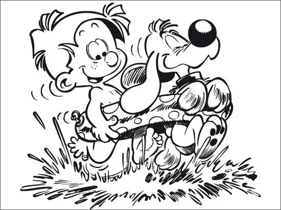 Coloriage et dessins gratuits Garçon heureux pendant Les Vacances à imprimer