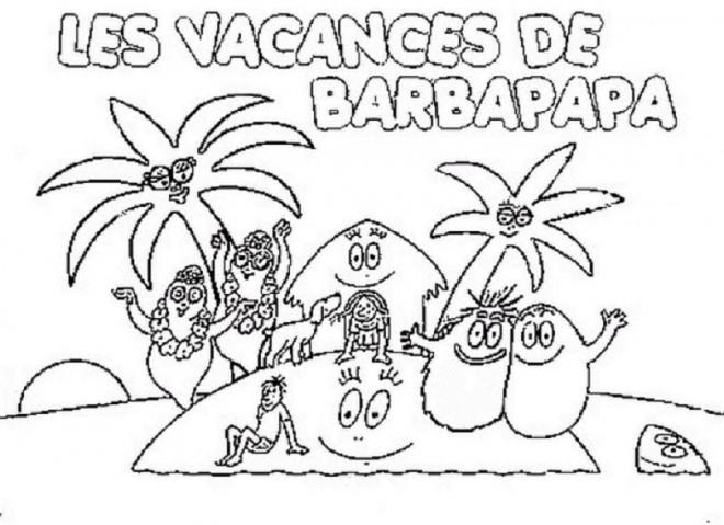 Coloriage les vacances de barbapapa dessin gratuit imprimer - Barbapapa dessin anime gratuit ...