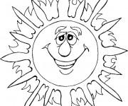 Coloriage et dessins gratuit Soleil D'Été à imprimer