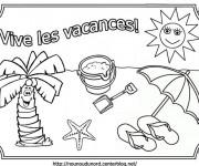 Coloriage Vacances 5