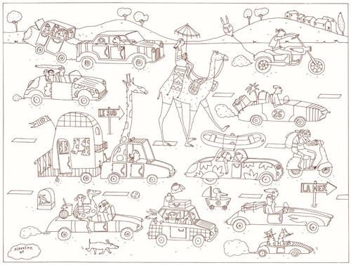 Coloriage et dessins gratuits Vacances à télécharger à imprimer