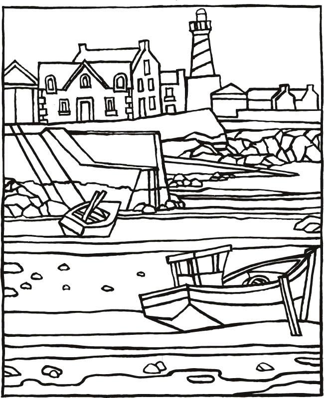 Coloriage et dessins gratuits Vacances au bord de La Mer à imprimer