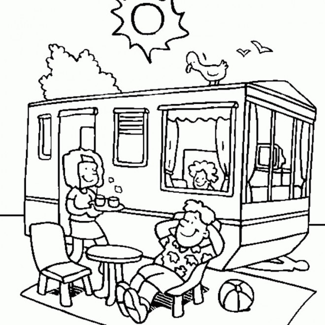 Coloriage et dessins gratuits Vacances couleur à imprimer