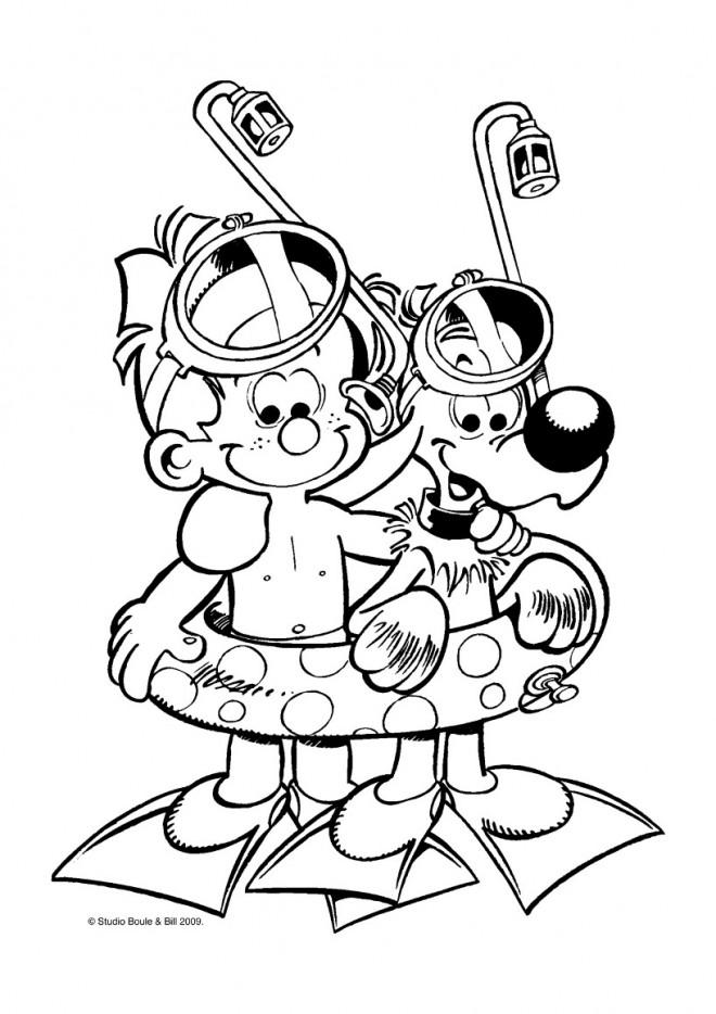 Coloriage Vacances Dessin Animé dessin gratuit à imprimer
