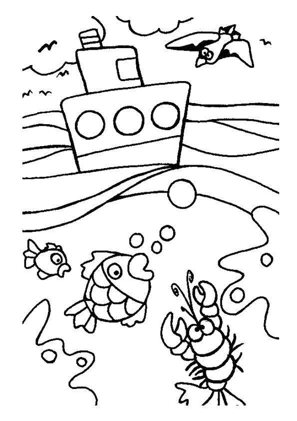 Coloriage Vacances Ete Et La Mer Dessin Gratuit A Imprimer