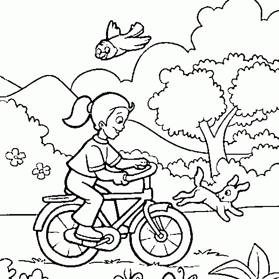 Coloriage et dessins gratuits Vacances Printemps à imprimer