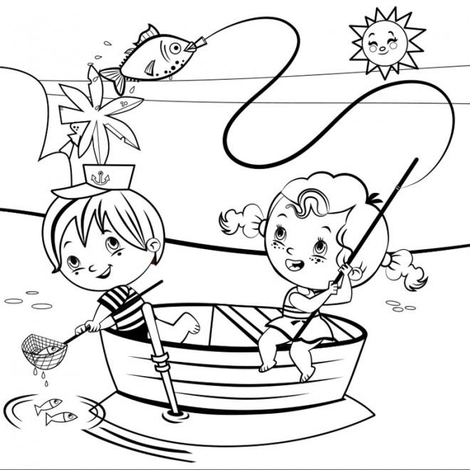 Coloriage et dessins gratuits Vacances vecteur à imprimer