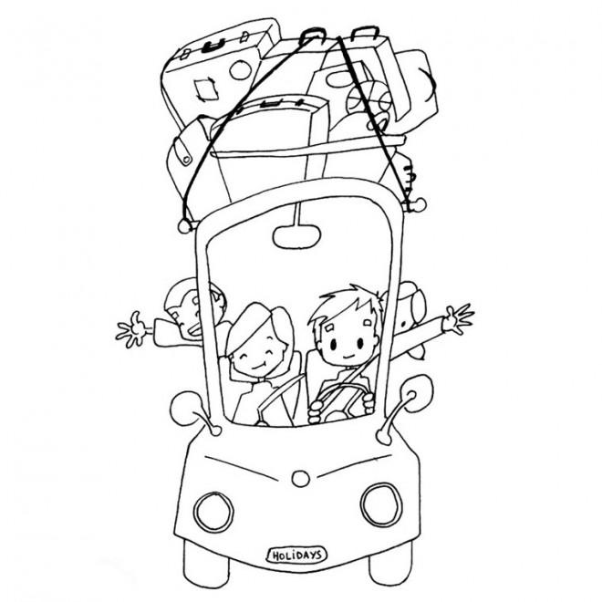 Coloriage et dessins gratuits Vacances Voyage à imprimer