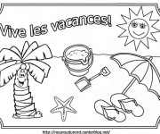 Coloriage et dessins gratuit Vive Les Vacances à imprimer