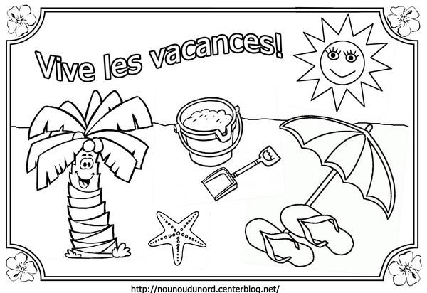 Coloriage et dessins gratuits Vive Les Vacances à imprimer