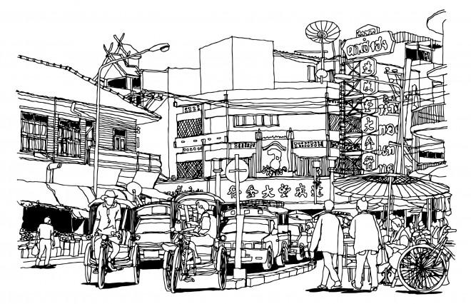 Coloriage et dessins gratuits Architecture en Chine à imprimer
