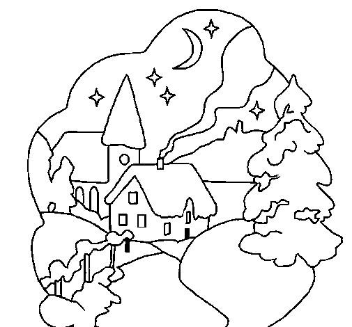 Coloriage Village De Noel A Imprimer : coloriage maisons de village noel dessin gratuit imprimer ~ Pogadajmy.info Styles, Décorations et Voitures