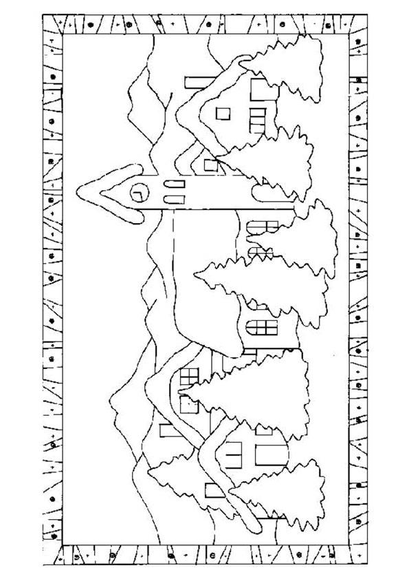 Coloriage et dessins gratuits Paysage Village à télécharger à imprimer