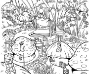 Coloriage Villages