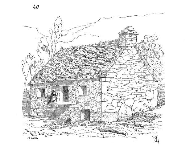 Coloriage et dessins gratuits Une Maison Villageoise à imprimer