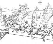 Coloriage Village de Noel