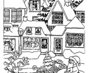 Coloriage Villages 13