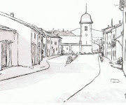 Coloriage Villages 15