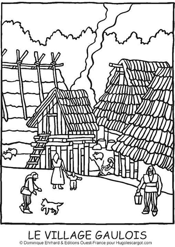 Coloriage et dessins gratuits Villages campagne à imprimer
