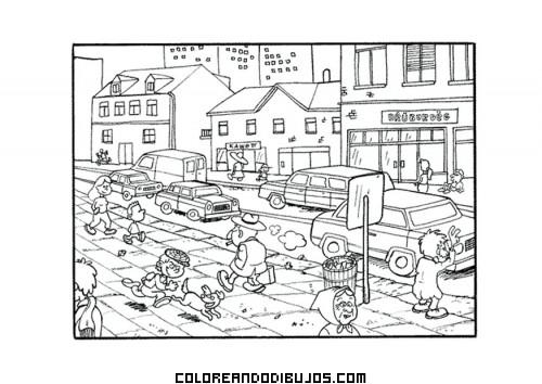 Coloriage et dessins gratuits Villages et Villes à imprimer