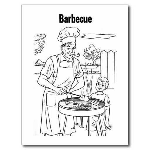 Coloriage et dessins gratuits Vintage Barbecue à imprimer