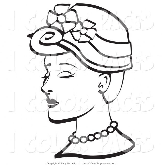 Coloriage et dessins gratuits Vintage Chapeau de Femme à imprimer