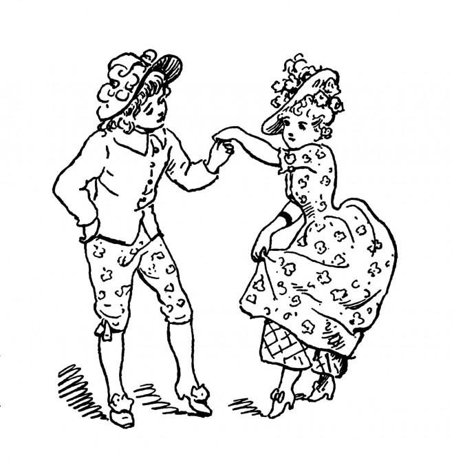 Coloriage et dessins gratuits Vintage Danse à imprimer