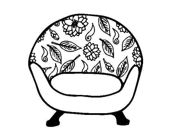 Coloriage et dessins gratuits Vintage fauteuil à imprimer